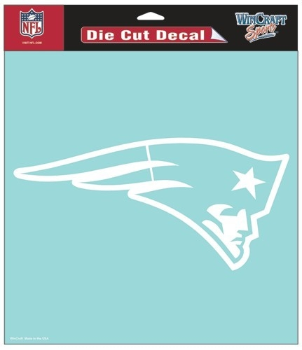 Nfl Football New England Patriots Decals - 3208525654 - New England Patriots Decal 8x8 Die Cut White 3208525654