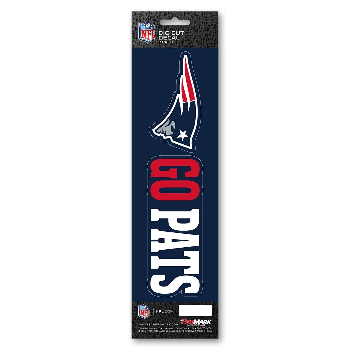 Nfl Football New England Patriots Decals - 8162029118 - New England Patriots Decal Die Cut Slogan Pack 8162029118