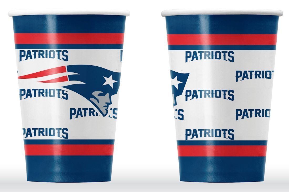 New England Patriots Disposable Paper Cups - 9413106052 - Nfl Football New England Patriots Bath 9413106052
