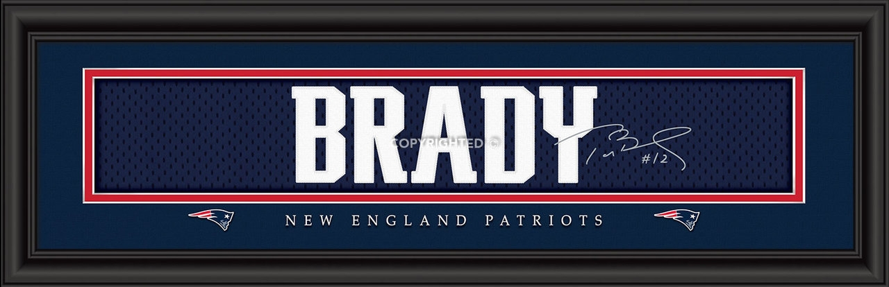 "New England Patriots Tom Brady Print-signature 8""x24"" - 4865503838 - Nfl Football New England Patriots Framed Prints 4865503838"