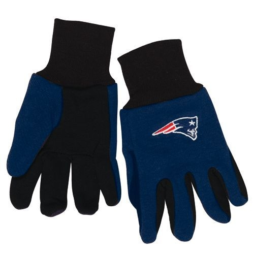 New England Patriots Two Tone Youth Size Gloves - 9960602995 - Nfl Football New England Patriots Gloves 9960602995
