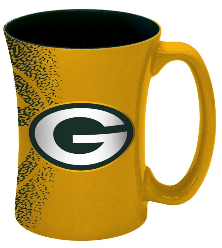 Green Bay Packers Coffee Mug-14 Oz Mocha - 8886013568 - Nfl Football Green Bay Packers Coffee Mugs 8886013568