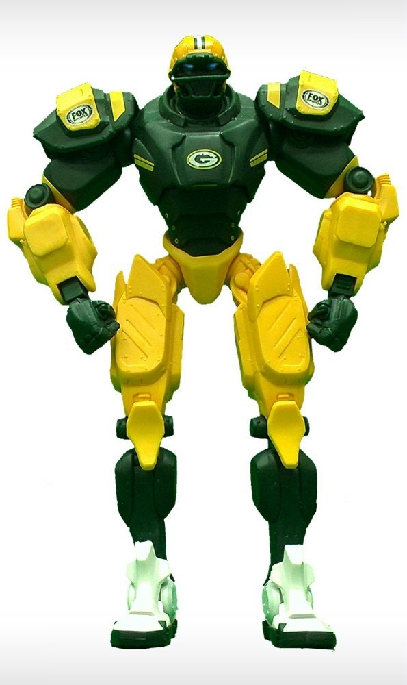 Green Bay Packers Fox Sports Robot - 1263301723 - Nfl Football Green Bay Packers Robots Figurines 1263301723