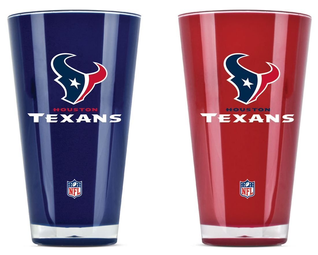Houston Texans Tumblers-set Of 2 (20 Oz) - 9413101634 - Nfl Football Houston Texans Tumblers And Pint Glasses 9413101634