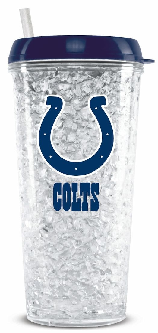 Indianapolis Colts Crystal Freezer Tumbler - 9413102260 - Nfl Football Indianapolis Colts Tumblers And Pint Glasses 9413102260