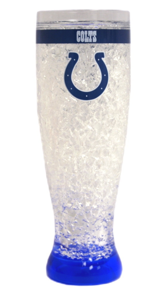 Indianapolis Colts Crystal Pilsner Glass - 9413125102 - Nfl Football Indianapolis Colts Shot Glasses 9413125102