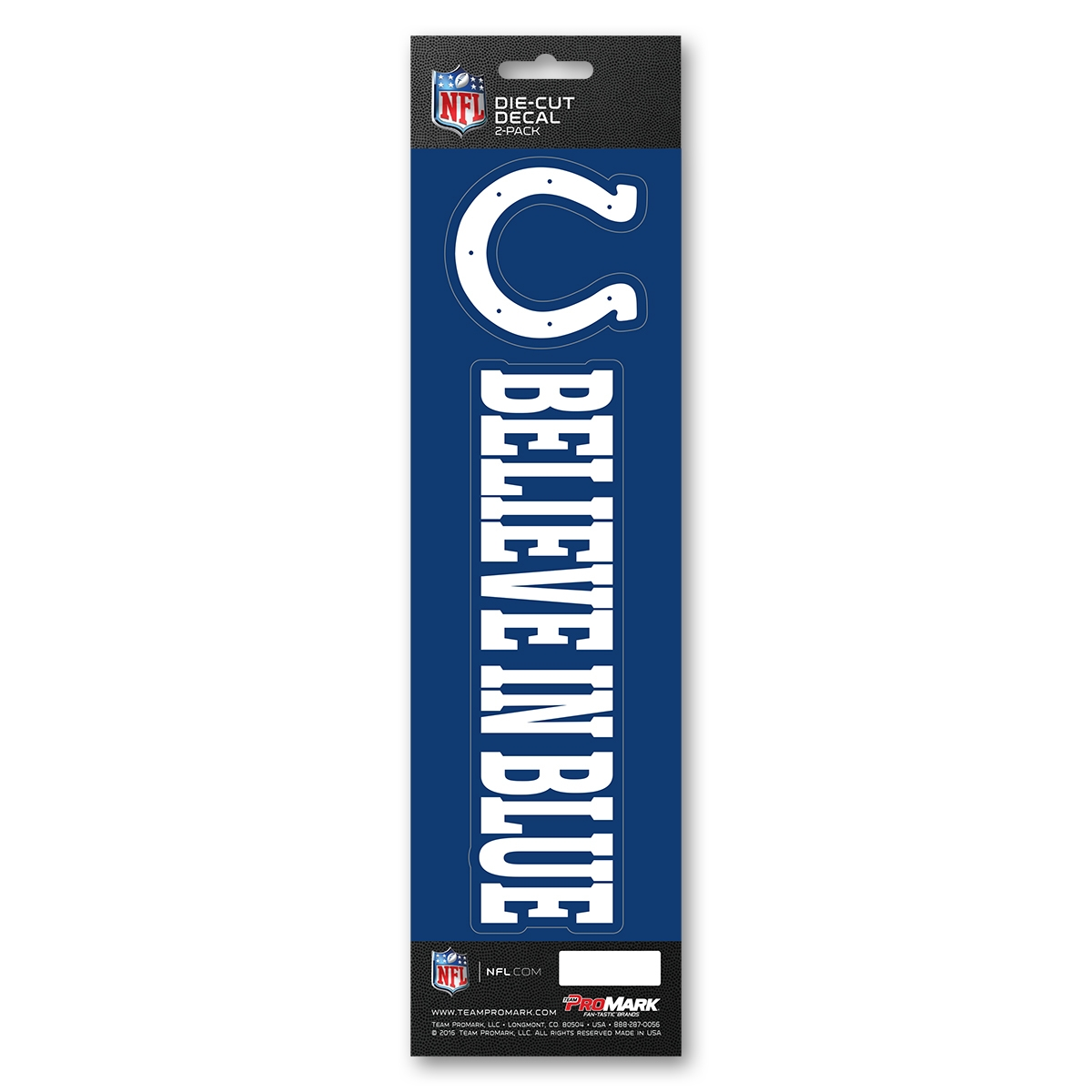 Nfl Football Indianapolis Colts Decals - 8162029113 - Indianapolis Colts Decal Die Cut Slogan Pack 8162029113