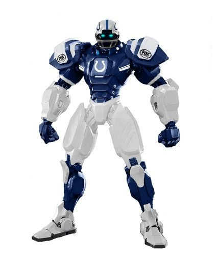 Indianapolis Colts Fox Sports Robot - 1263301727 - Nfl Football Indianapolis Colts Robots Figurines 1263301727