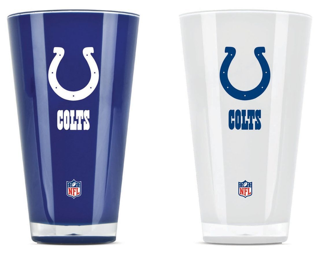 Indianapolis Colts Tumblers-set Of 2 (20 Oz) - 9413101635 - Nfl Football Indianapolis Colts Tumblers And Pint Glasses 9413101635