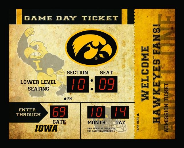 Iowa Hawkeyes Clock-14x19 Scoreboard-bluetooth - 841242426 - Ncaa College Iowa Iowa Hawkeyes Clocks 841242426