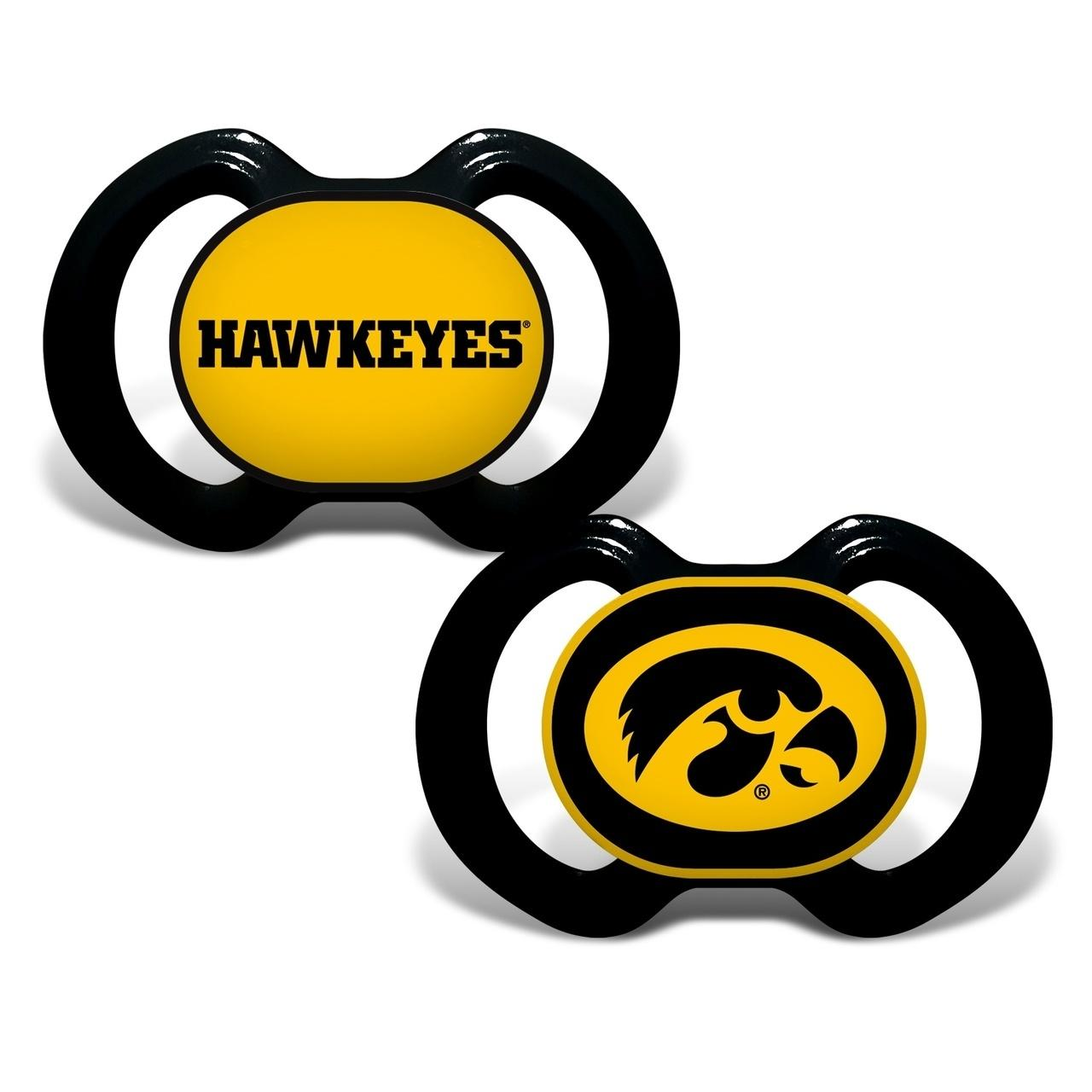Ncaa College Iowa Iowa Hawkeyes Baby Fan Gear - 1740702193 - Iowa Hawkeyes Pacifier-2 Pack 1740702193