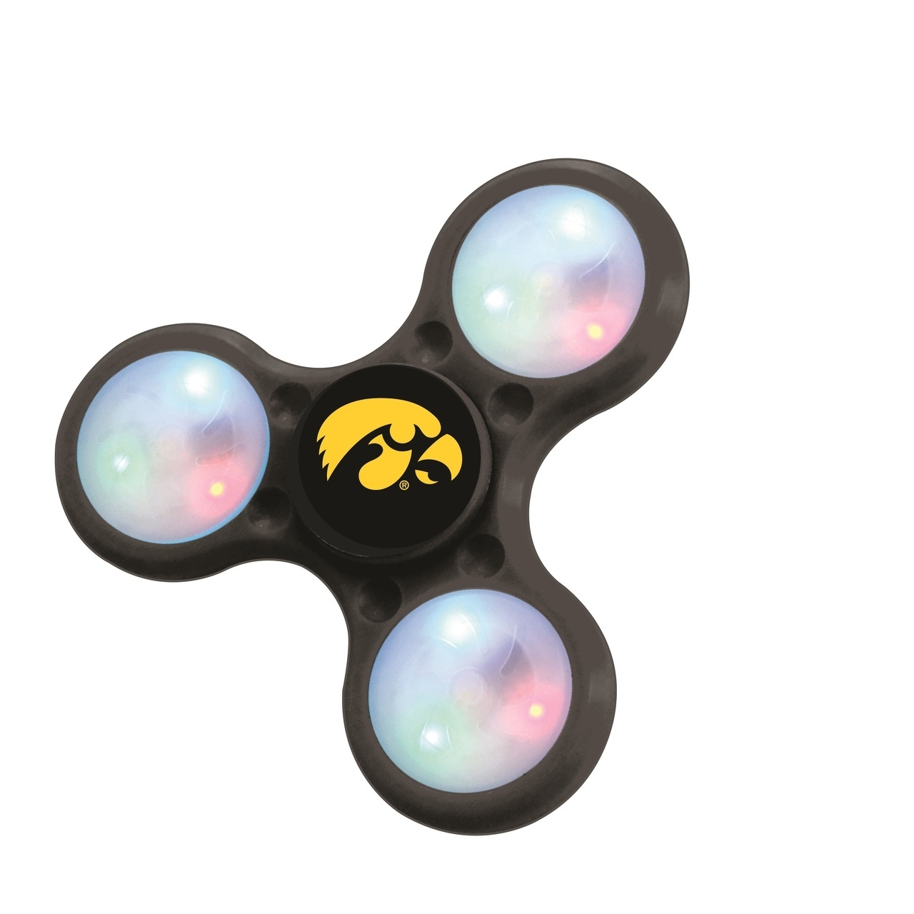 Iowa Hawkeyes Spinners 3 Prong Led Style - 6326471285 - Ncaa College Iowa Iowa Hawkeyes Toys Games Puzzles Games 6326471285
