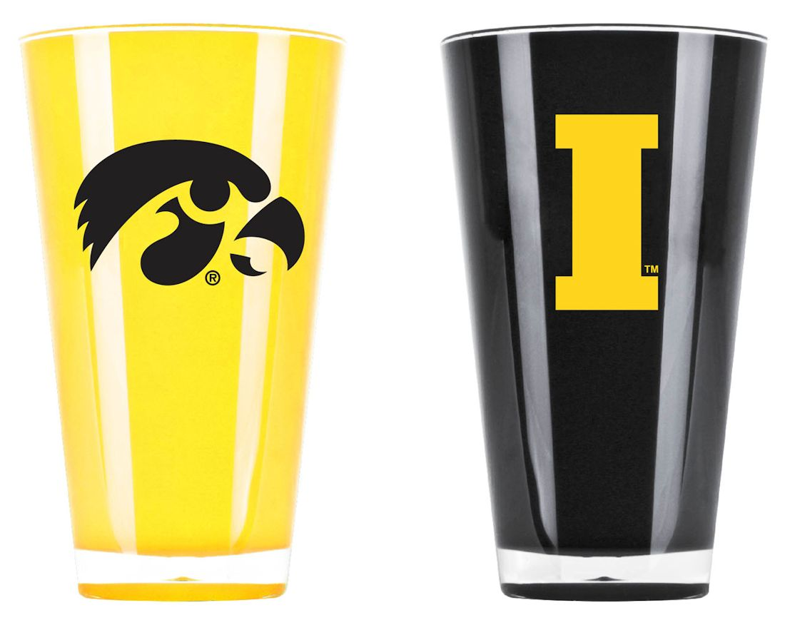 Iowa Hawkeyes Tumblers-set Of 2 (20 Oz) - 9413101672 - Ncaa College Iowa Iowa Hawkeyes Tumblers And Pint Glasses 9413101672