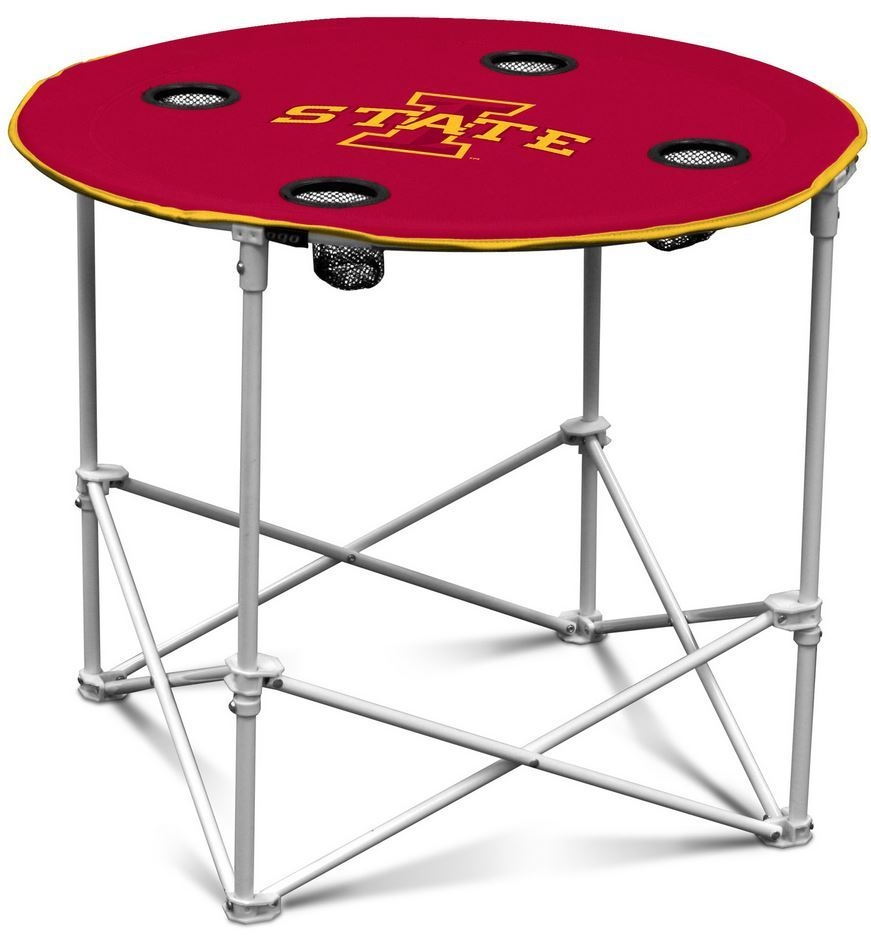 Iowa State Cyclones Round Tailgate Table - 629315631 - Ncaa College Iowa State Isu Cyclones Bath 629315631