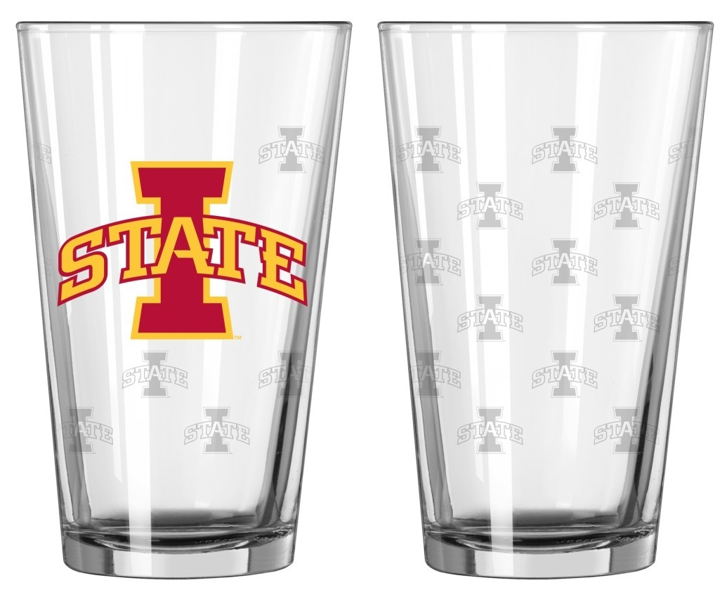 Iowa State Cyclones Satin Etch Pint Glass Set - 4245102302 - Ncaa College Iowa State Isu Cyclones Tumblers And Pint Glasses 4245102302