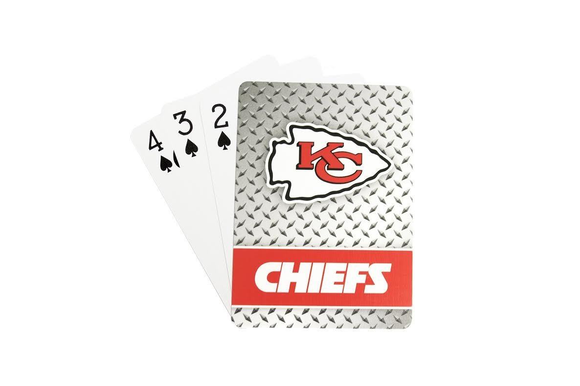 Kansas City Chiefs Playing Cards-diamond Plate - 5717533253 - Nfl Football Kansas City Chiefs Toys Games Puzzles Games 5717533253