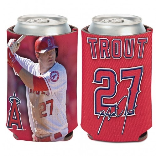 Los Angeles Angels Mike Trout Can Cooler - 3208515026 - Mlb Baseball Los Angeles Angels Of Anaheim Desk Accessories 3208515026