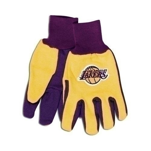 Nba Basketball Los Angeles Lakers Gloves - 9960698650 - Los Angeles Lakers Two Tone Gloves-adult 9960698650