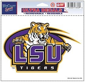 Lsu Tigers Decal 5x6 Ultra Color - 3208517858 - Ncaa College Lsu Shreveport Lsus Pilots Bumper Stickers 3208517858