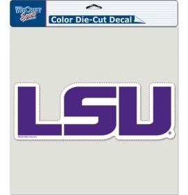 Ncaa College Lsu Lsu Tigers Decals - 3208591460 - Lsu Tigers Decal 8x8 Die Cut Color Logo 3208591460