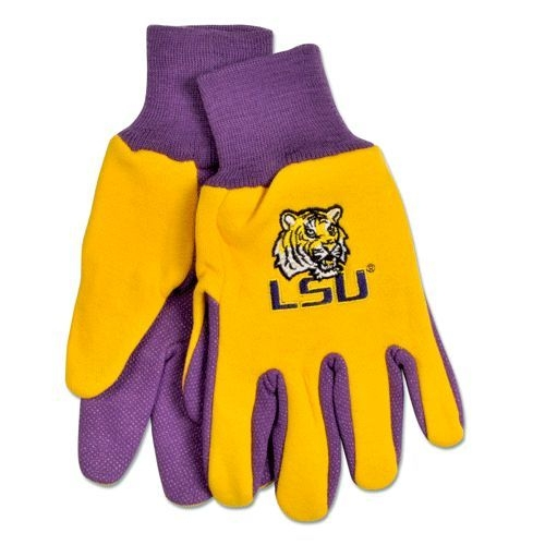 Ncaa College Lsu Lsu Tigers Gloves - 9960695965 - Lsu Tigers Two Tone Gloves-adult 9960695965