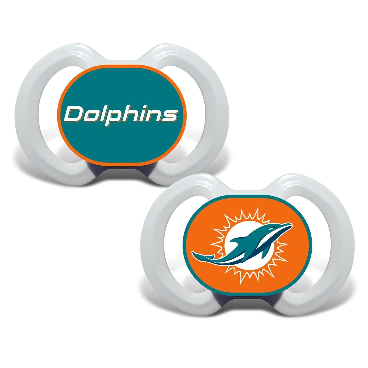 Nfl Football Miami Dolphins Baby Fan Gear - 1740702230 - Miami Dolphins Pacifier 2 Pack 1740702230