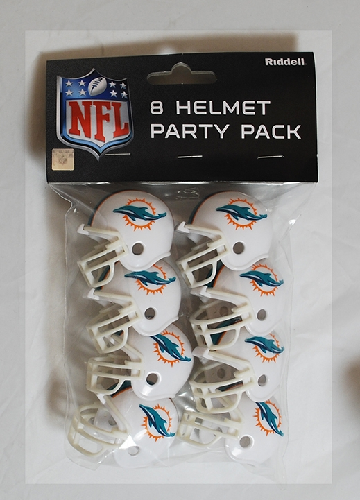 Nfl Football Miami Dolphins Party Supplies - 9585533017 - Miami Dolphins Team Helmet Party Pack 9585533017