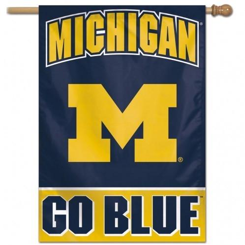 Ncaa College Michigan Mich Wolverines Banners - 3208528635 - Michigan Wolverines Banner 28x40 Vertical 3208528635