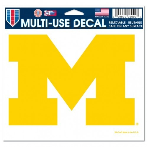 Michigan Wolverines Decal 5x6 Ultra Color - 3208520234 - Ncaa College Michigan Mich Wolverines Bumper Stickers 3208520234
