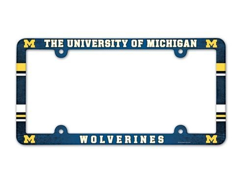 Ncaa College Michigan Mich Wolverines License Plates Frames - 3208590061 - Michigan Wolverines License Plate Frame-full Color 3208590061
