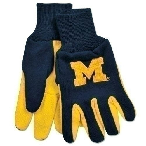 Michigan Wolverines Two Tone Gloves-adult - 9960693960 - Ncaa College Michigan Mich Wolverines Gloves 9960693960