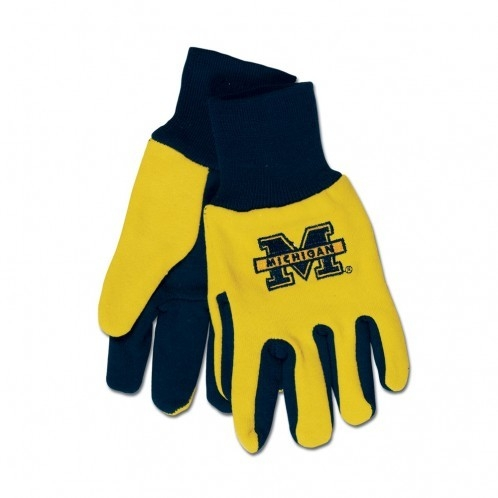 Michigan Wolverines Two Tone Gloves-youth Size - 9960603850 - Ncaa College Michigan Mich Wolverines Gloves 9960603850