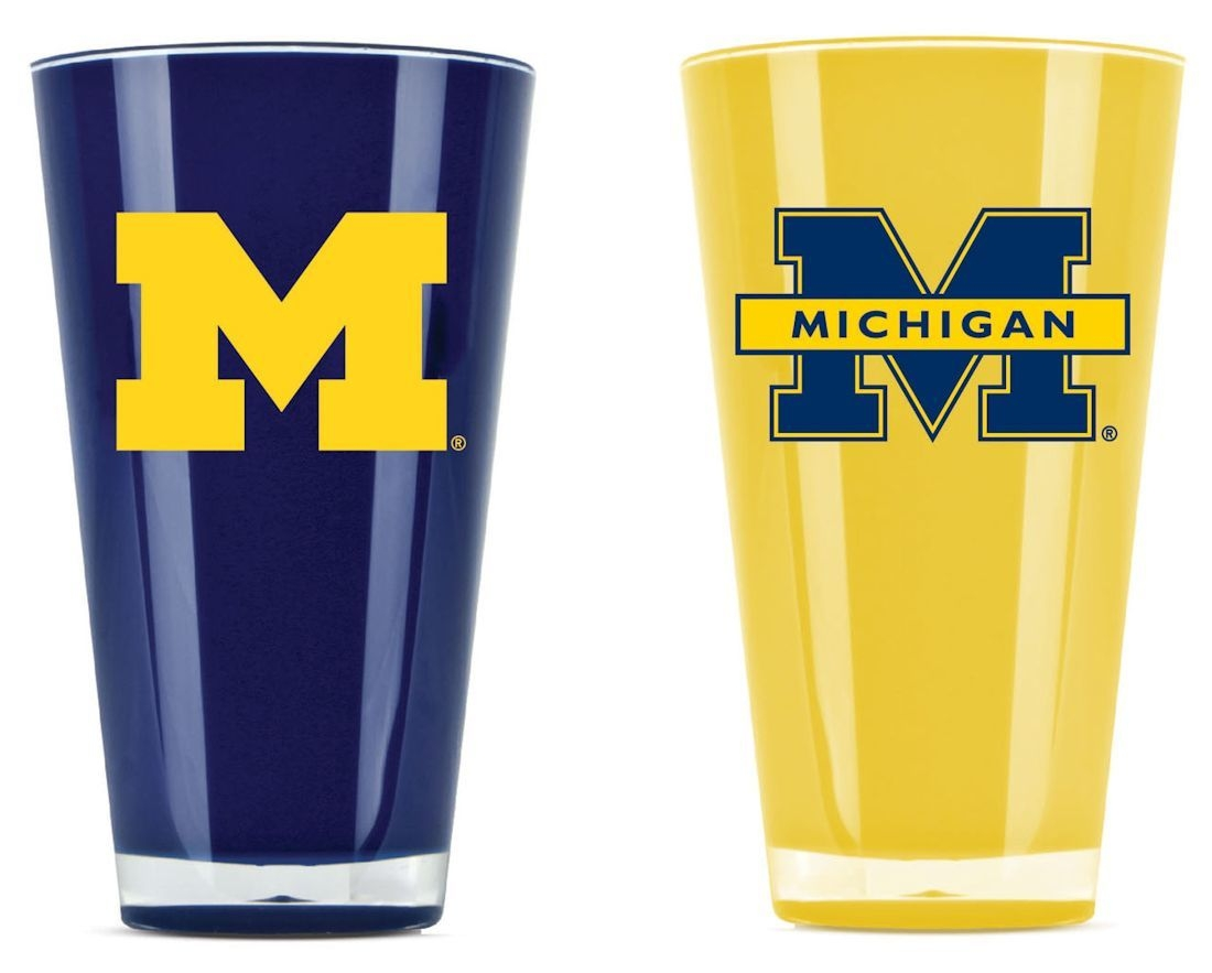 Ncaa College Michigan Mich Wolverines Tumblers And Pint Glasses - 9413101659 - Michigan Wolverines Tumblers-set Of 2 (20 Oz) 9413101659