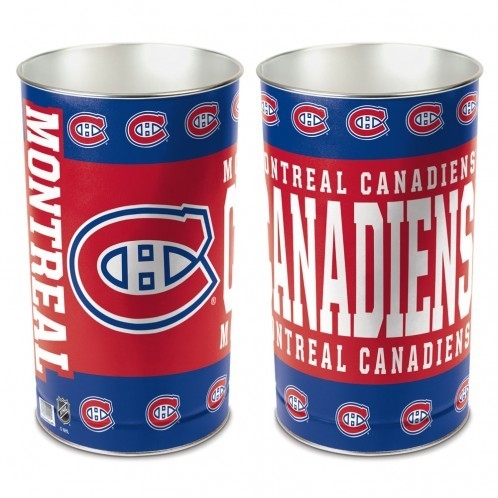 Montreal Canadiens Waste Basket-15 Inch - 1094380100 - Nhl Hockey Montreal Canadiens Bath 1094380100