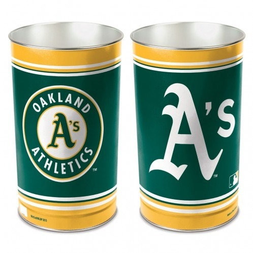 Oakland Athletics Waste Basket 15 Inch - 1094337988 - Mlb Baseball Oakland Athletics Bath 1094337988