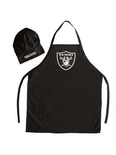Nfl Football Oakland Raiders Aprons - 5717524081 - Oakland Raiders Apron And Chef Hat Set 5717524081