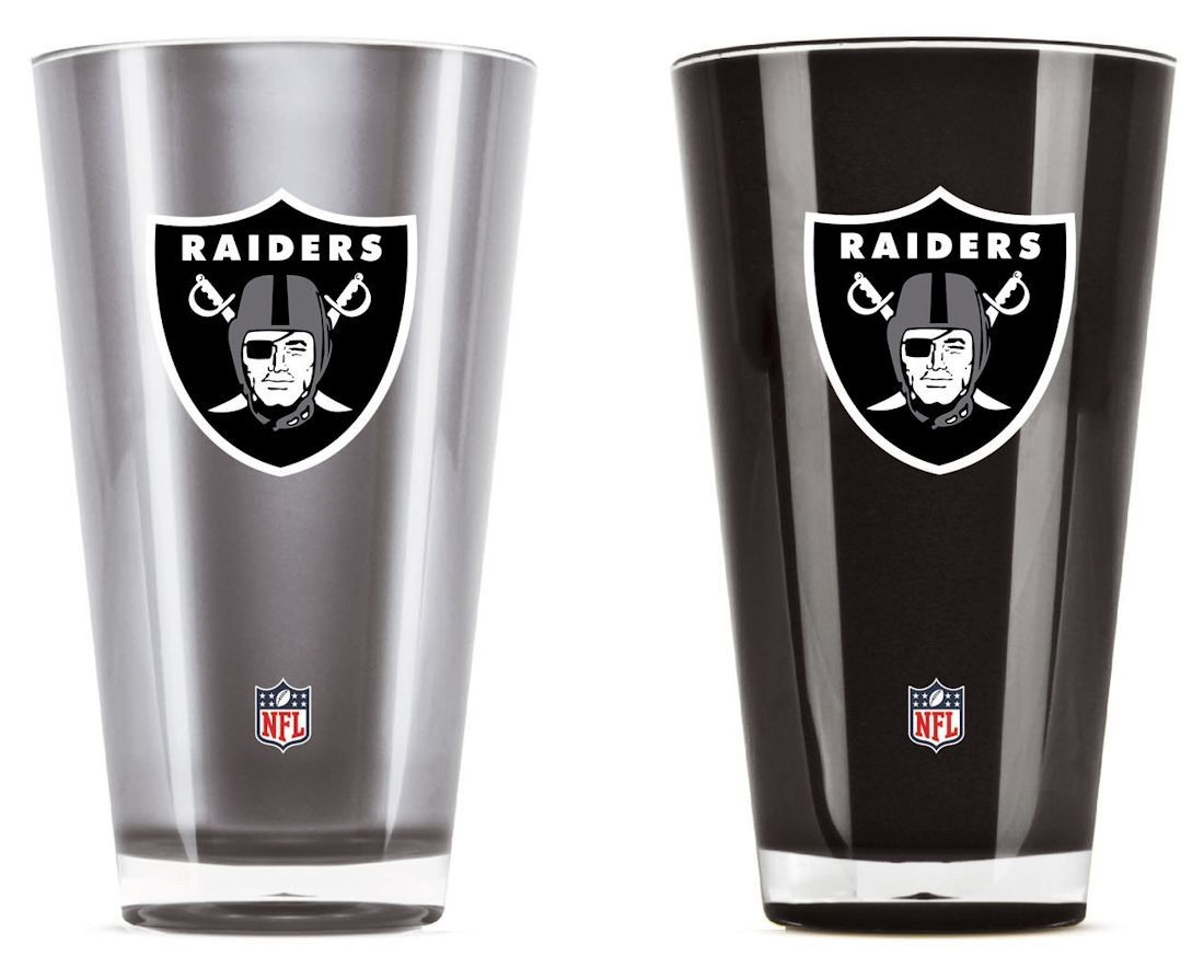 Nfl Football Oakland Raiders Tumblers And Pint Glasses - 9413101600 - Oakland Raiders Tumblers-set Of 2 (20 Oz) 9413101600