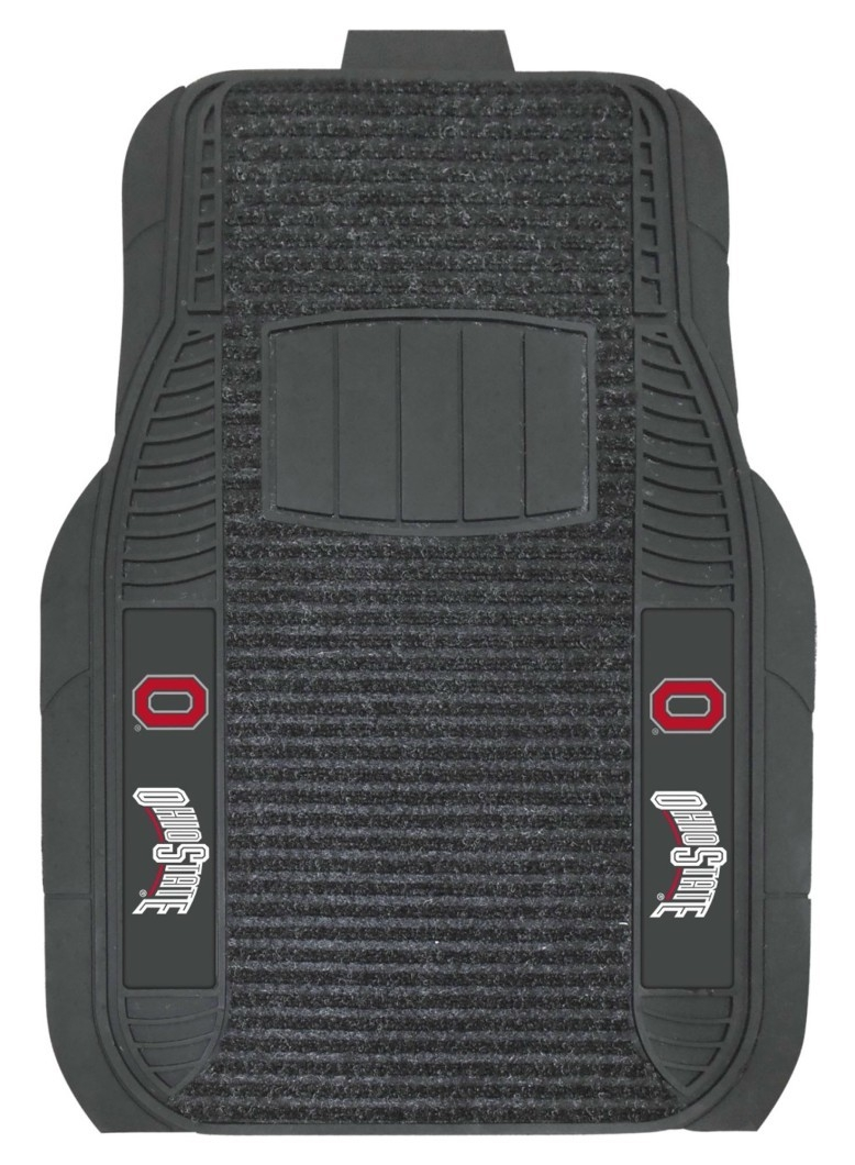 Ohio State Buckeyes Car Mats-deluxe Set - 4298903496 - Ncaa College Ohio State Osu Buckeyes Car Mats 4298903496