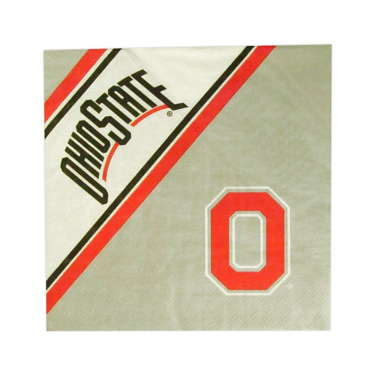 Ohio State Buckeyes Disposable Napkins - 9413107003 - Ncaa College Ohio State Osu Buckeyes Kitchen Dining Dinnerware 9413107003
