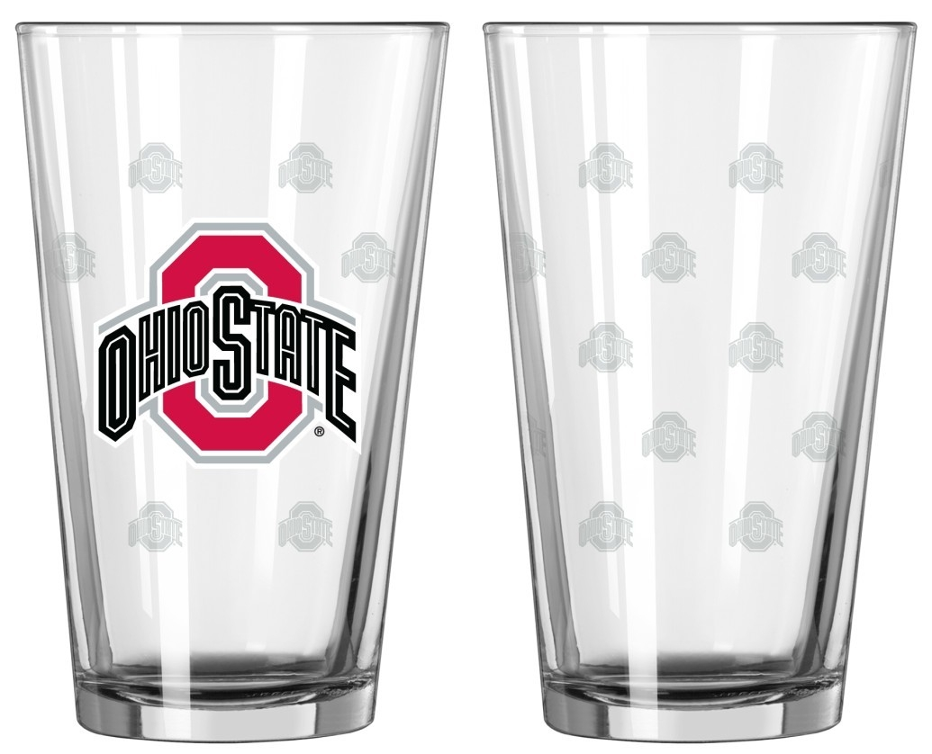 Ohio State Buckeyes Satin Etch Pint Glass Set - 4245102231 - Ncaa College Ohio State Osu Buckeyes Tumblers And Pint Glasses 4245102231