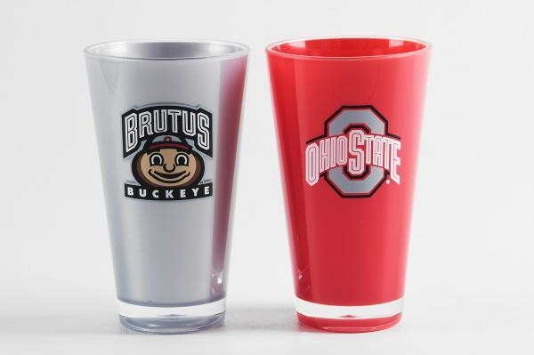Ncaa College Ohio State Osu Buckeyes Tumblers And Pint Glasses - 9413101660 - Ohio State Buckeyes Tumblers-set Of 2 (20 Oz) 9413101660