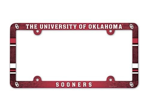 Ncaa College Oklahoma Ou Sooners License Plates Frames - 3208590073 - Oklahoma Sooners License Plate Frame-full Color 3208590073
