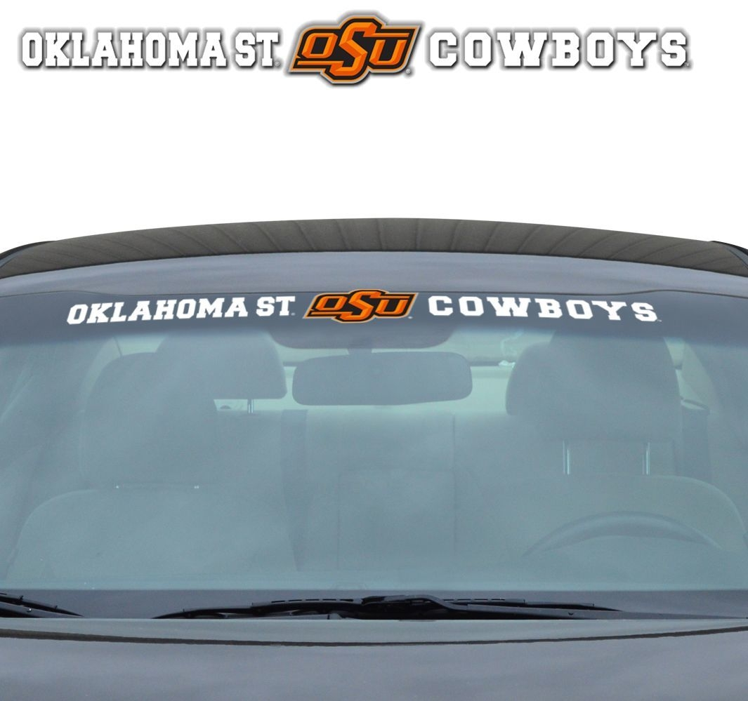 Oklahoma State Cowboys Decal 35x4 Windshield - 8162080751 - Ncaa College Oklahoma State Osu Cowboys Bumper Stickers 8162080751