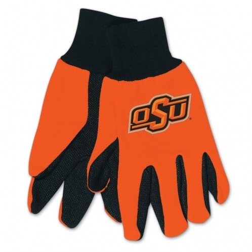 Oklahoma State Cowboys Gloves Two Tone Style Adult Size - 9960695972 - Ncaa College Oklahoma State Osu Cowboys Gloves 9960695972