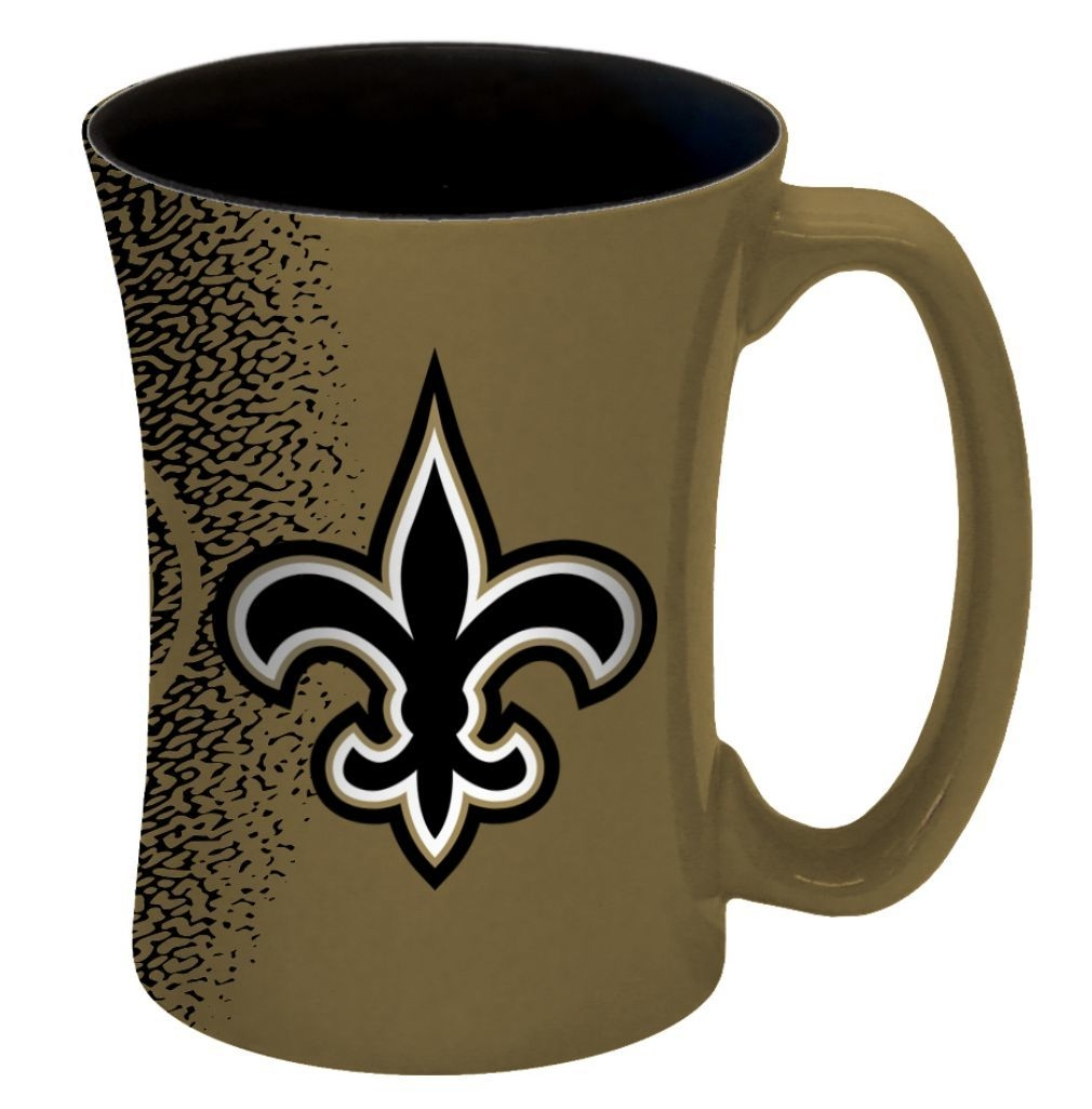 New Orleans Saints Coffee Mug-14 Oz Mocha - 8886013575 - Nfl Football New Orleans Saints Coffee Mugs 8886013575