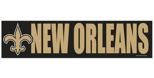 New Orleans Saints Decal Bumper Sticker - 3208513395 - Nfl Football New Orleans Saints Bumper Stickers 3208513395
