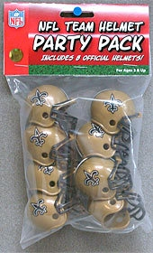 Nfl Football New Orleans Saints Party Supplies - 9585533020 - New Orleans Saints Team Helmet Party Pack 9585533020