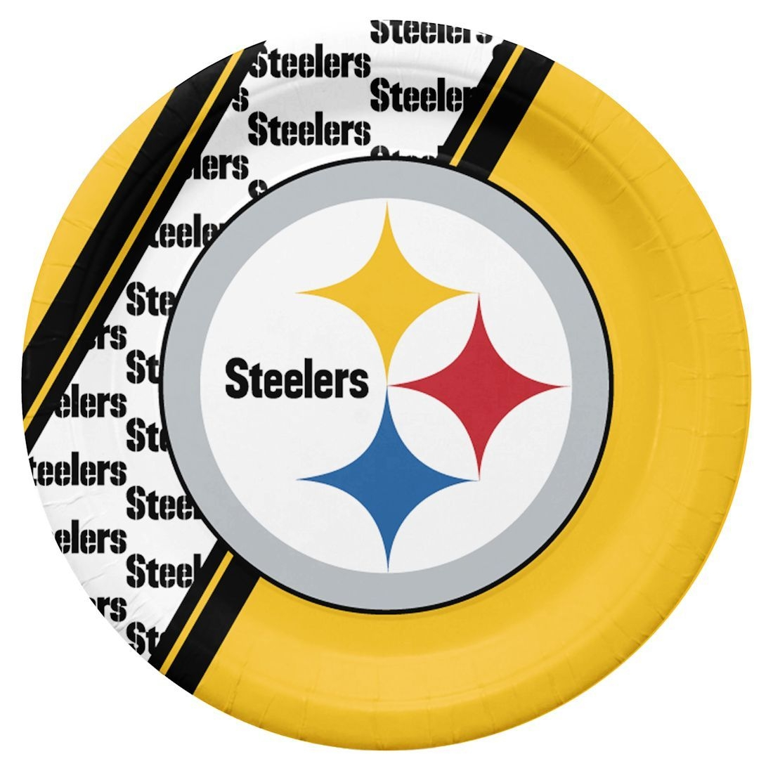 Pittsburgh Steelers Disposable Paper Plates - 9413106090 - Nfl Football Pittsburgh Steelers License Plates Frames 9413106090