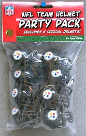 Nfl Football Pittsburgh Steelers Party Supplies - 9585533025 - Pittsburgh Steelers Team Helmet Party Pack 9585533025