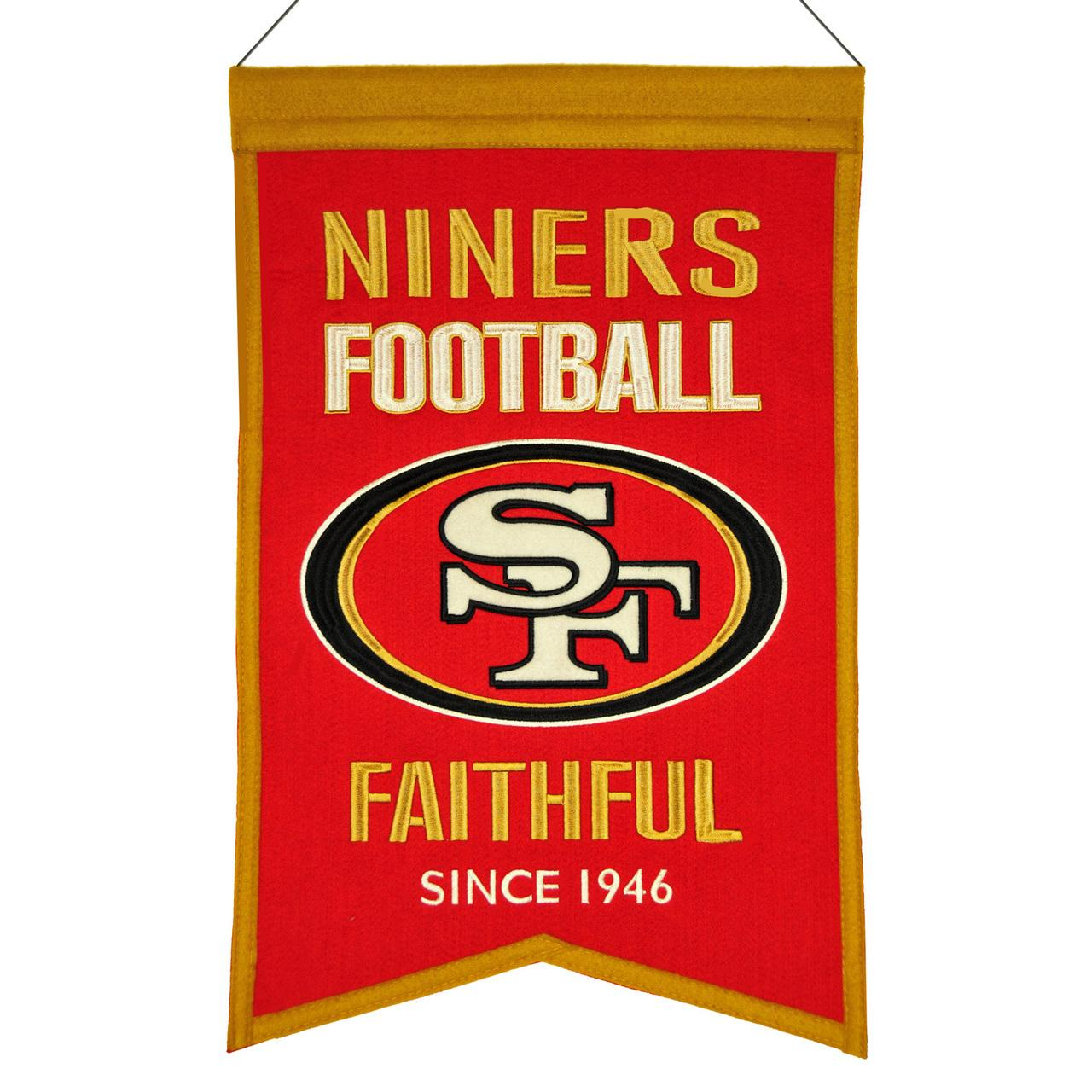 San Francisco 49ers Banner Wool Franchise - 7408830111 - Nfl Football San Francisco 49ers Banners 7408830111